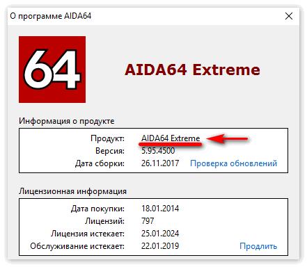 Приложение Aida 64 Extreme Edition