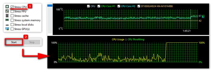 Проверка температуры видеоадаптера в Aida 64