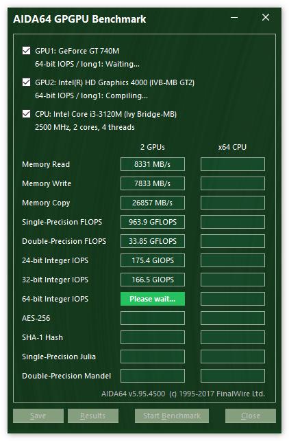 Тест CPU в Aida 64